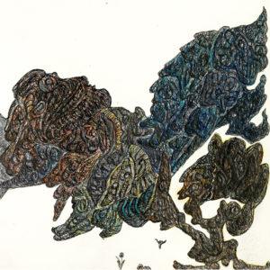 Alfred Neumayr, 2014, Ohne Titel, Mischtechnik auf Papier, 25,5 x 25,6 cm, Courtesy galerie gugging