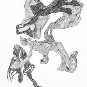 alfred neumayr, 2016, Ohne Titel, Tusche, 29,7 x 20,9 cm, Courtesy galerie gugging