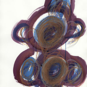 Arnold Schmidt, 2018, Figur, Kohle, Aquarellfarben, Wachskreide, 75 x 55, cm, Copyright Privatstiftung - Künstler aus Gugging