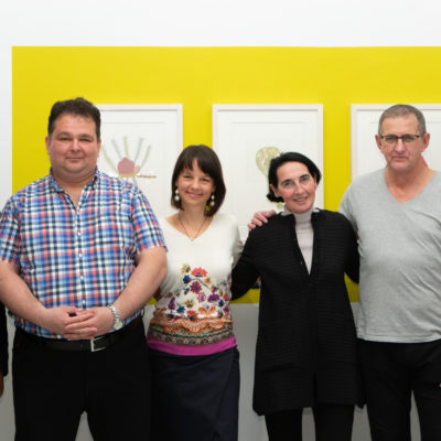 nina katschnig next to basel al-bazzaz & christa wiener, whose works were exhibited for the first time