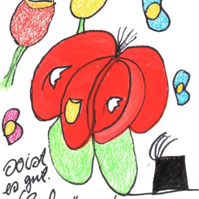 Schöne Rose auf - hab ichs gern - dem Hut. / Beautiful Rose on - I love it - the hat.