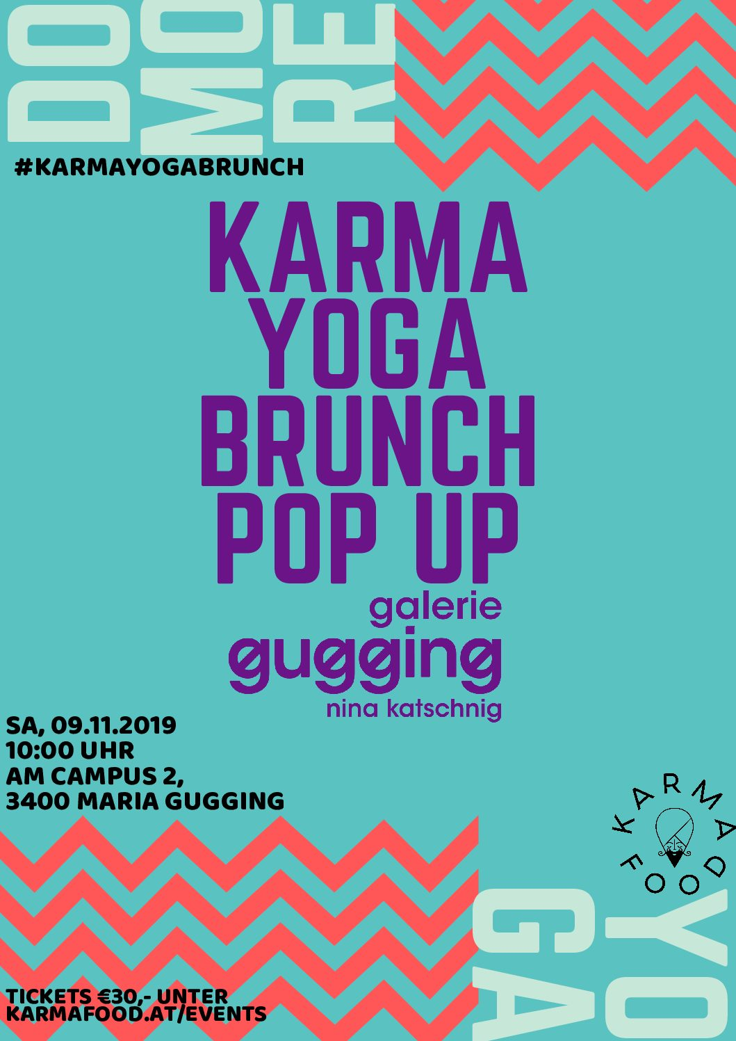 Karma Yoga Brunch Pop up @ gallery gugging