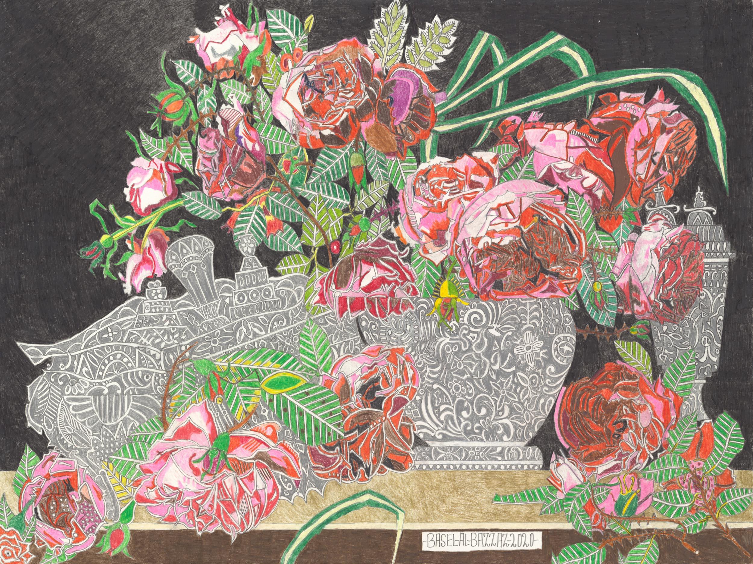 al-bazzaz basel - Rosen in Kristallvase / Roses in crystal vase