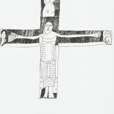 "Abzeichnung ""Kruzifix"" /  reproduction ""Crucifix"""