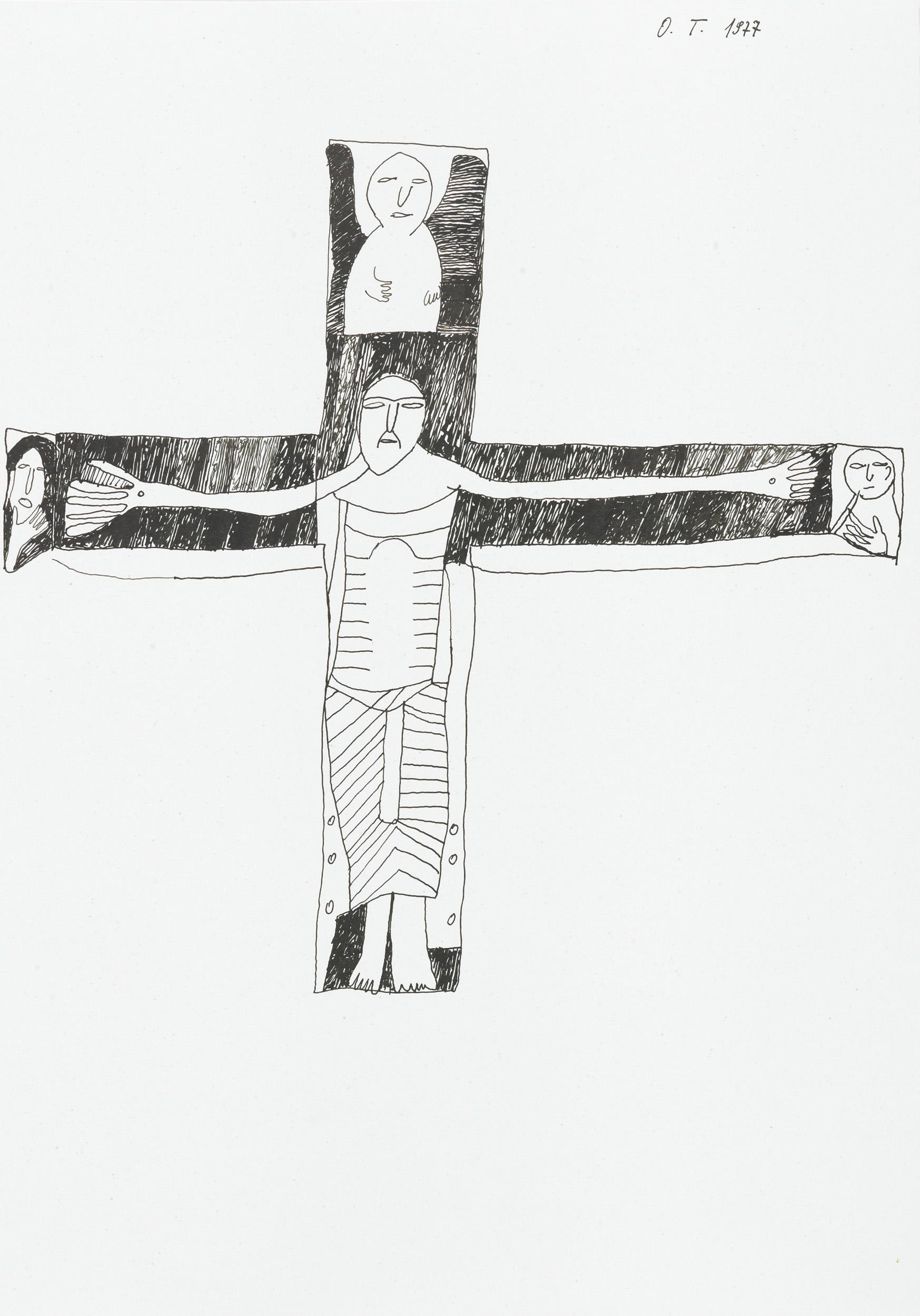 "tschirtner oswald - Abzeichnung ""Kruzifix"" /  reproduction ""Crucifix"""