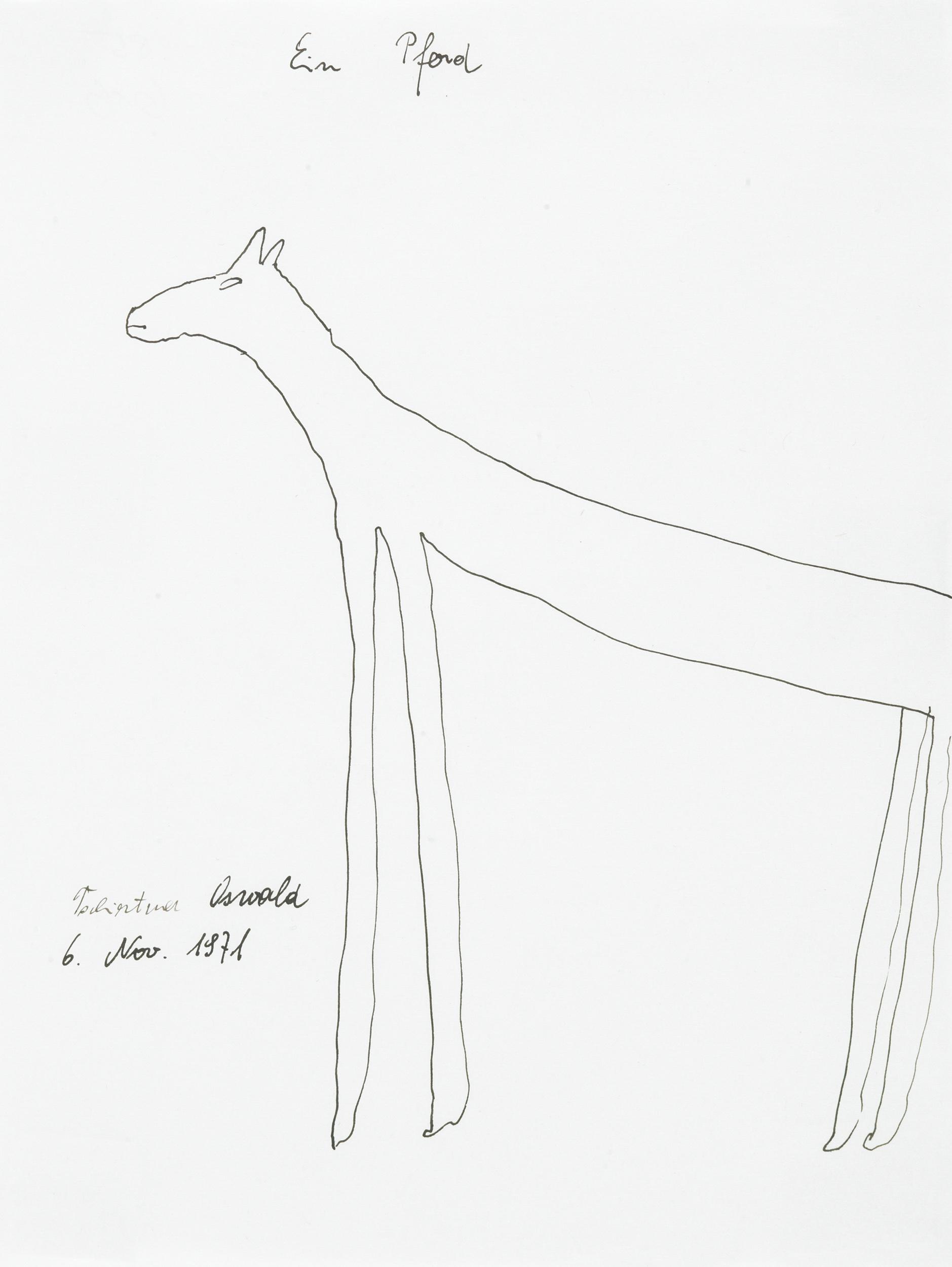 tschirtner oswald - Ein Pferd / A horse