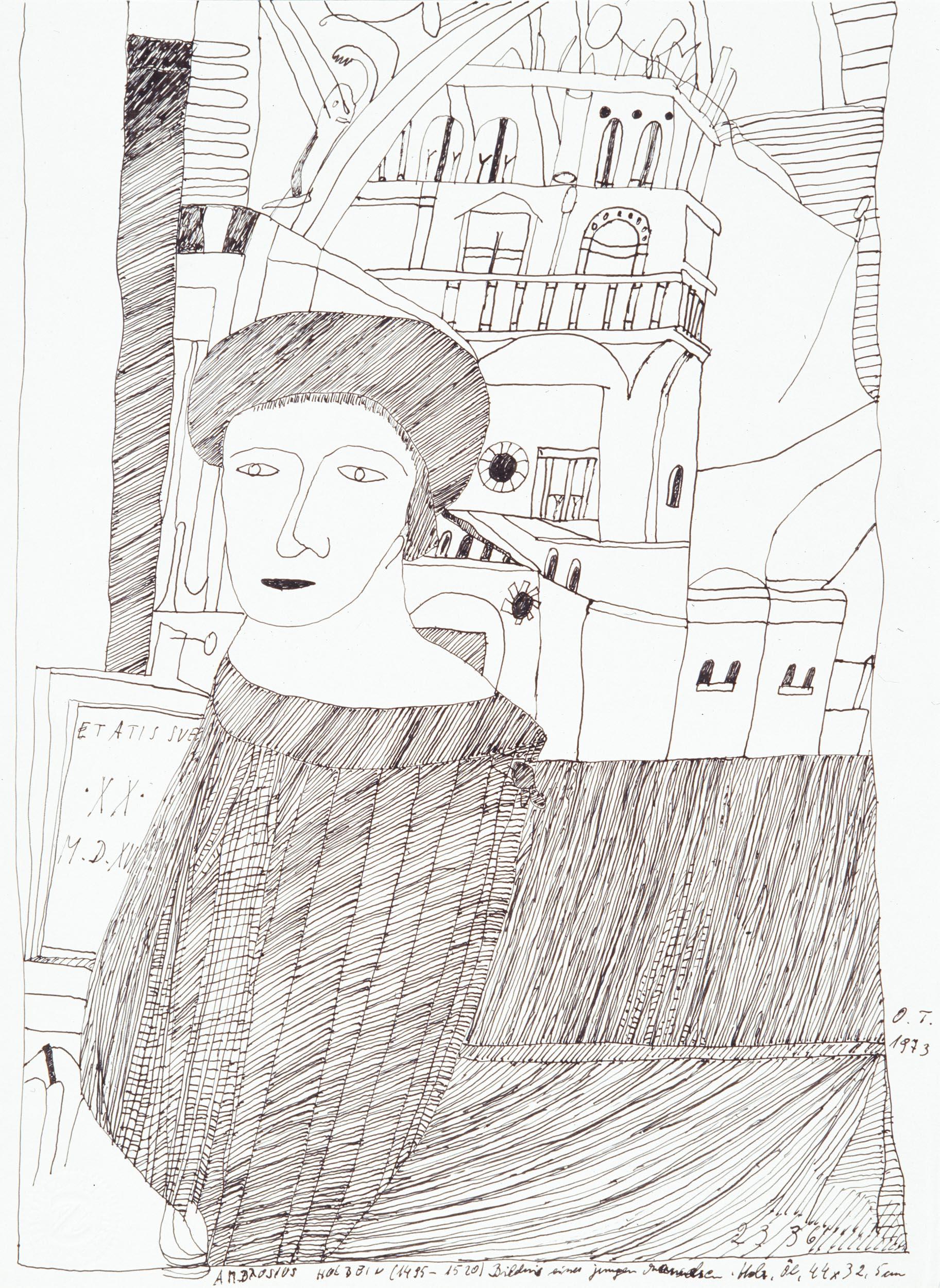 tschirtner oswald - Abzeichnung nach Holbein / Reproduction after Holbein