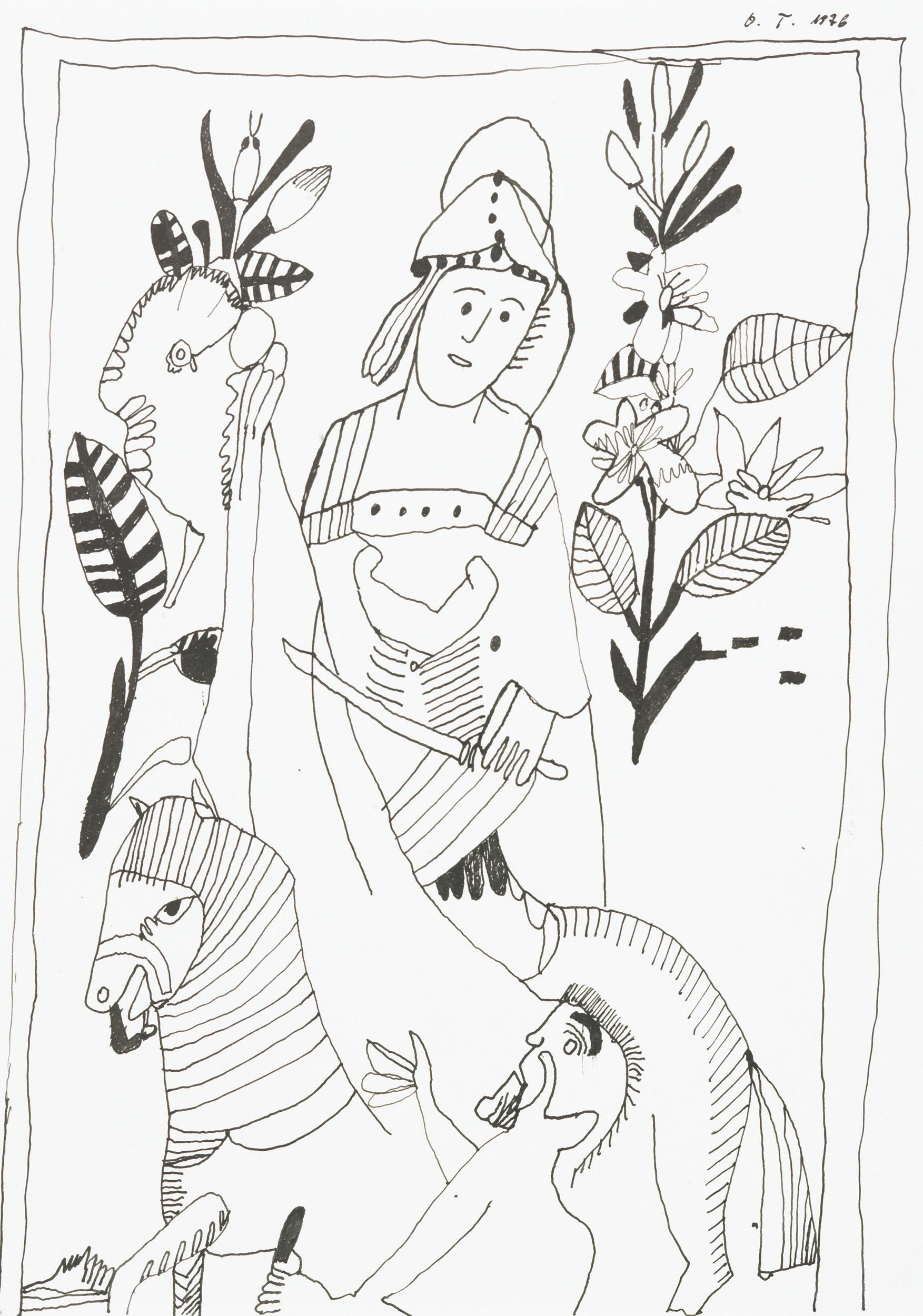 tschirtner oswald - Abzeichnung von einem Bild / Reproduction of an image
