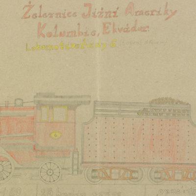 Železnice Jižini Ameriky Kolumbie, Ekvádor. Lokomotiva třady 6, opus: 178, parni lokomotiva CC 50