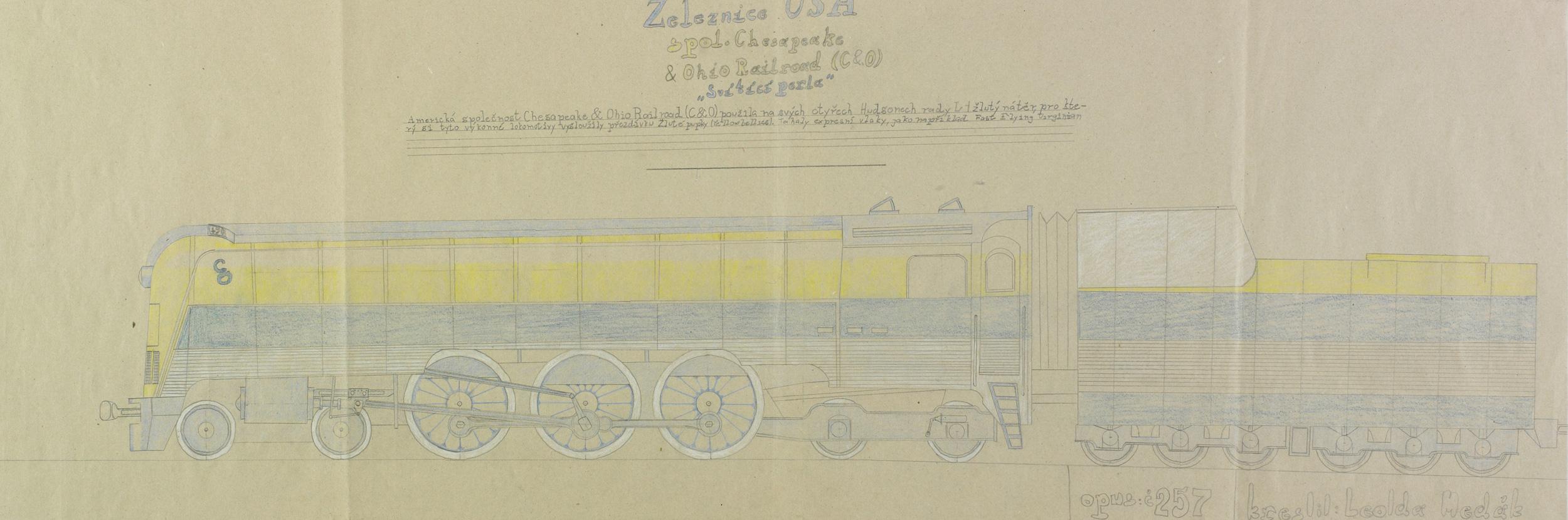 """wertheimer leoš - Železnice USA spol. Chesapeake & Ohio Railroad (C&O), """"Svitici perla"""", opus: č 257"""