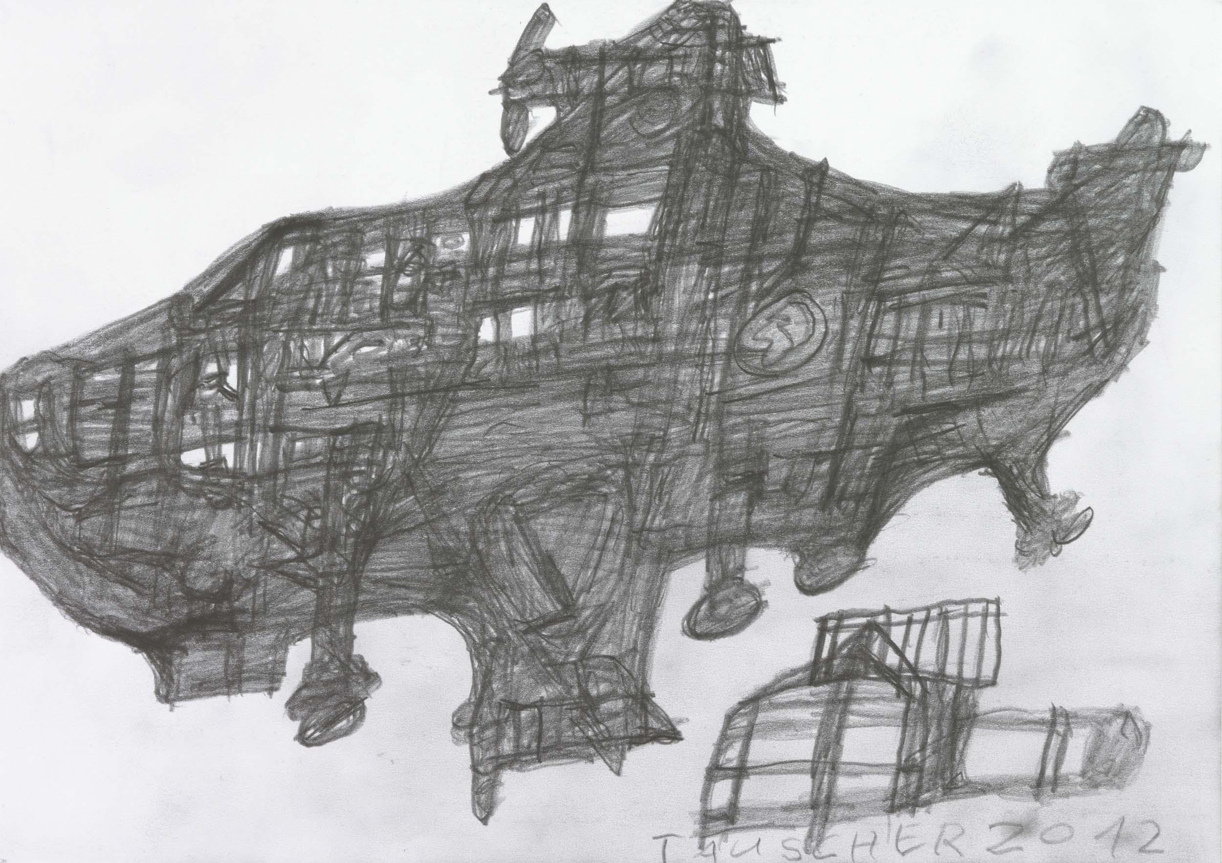 tauscher jürgen - flugobjekt / flying object