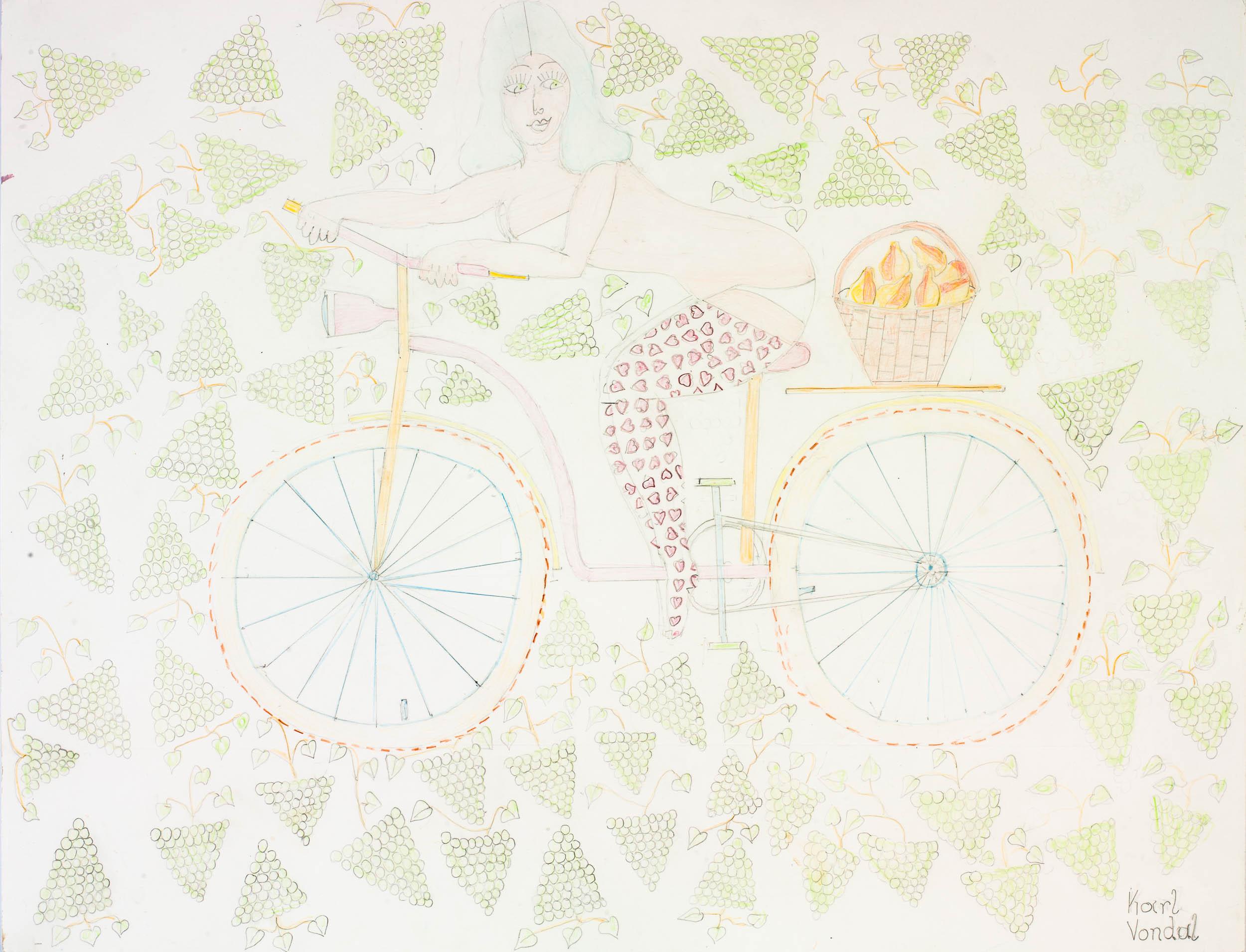 vondal karl - das Fahrradbild mit Anna /  the bicycle image with Anna