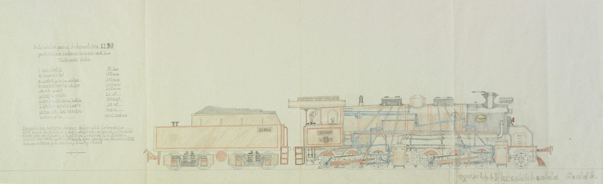 wertheimer leoš - Holandská parni lokomotiva CC 50 opus: č 443