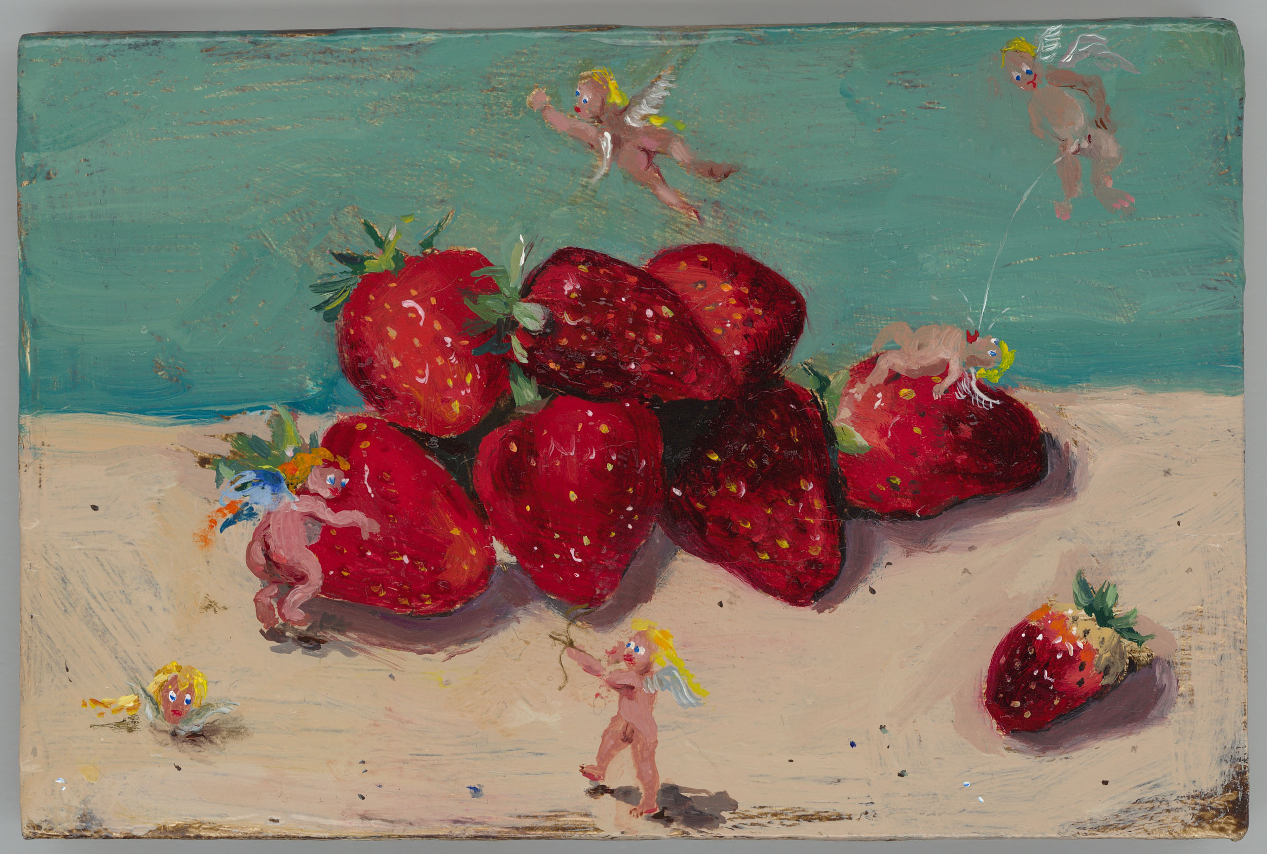 sartore adria - engel mit erdbeeren / angels with strawberries