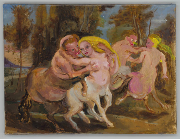 Nach Rubens mit blonden Haaren und grüner Nase (Die Liebe des Zentaurus, 1635) / After Rubens with blonde hair and green nose (The loves of the Centaurus, 1635)