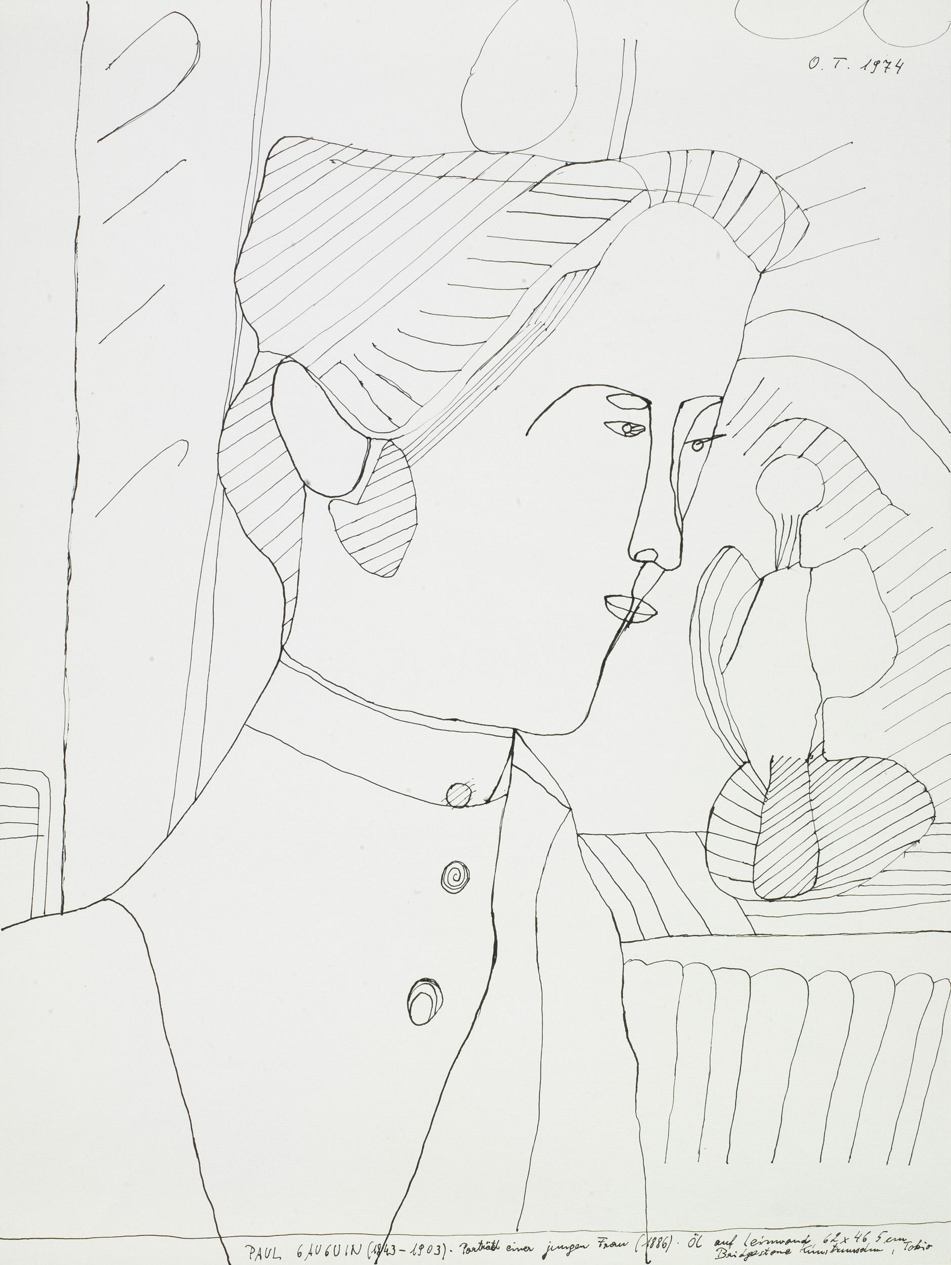 tschirtner oswald - Porträt einer jungen Frau / Portrait of a young woman