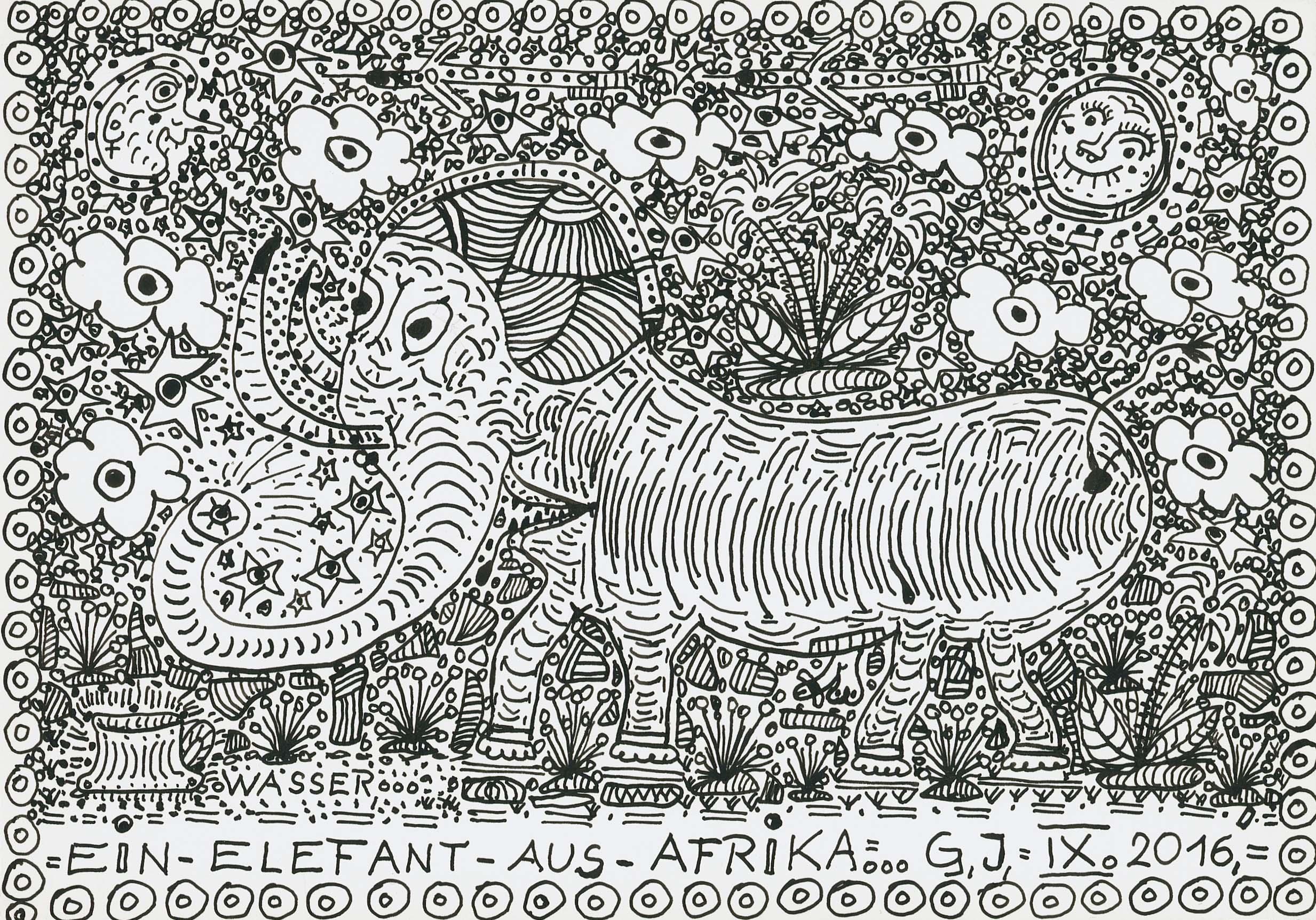 garber johann - EIN-ELEFANT-AUS-AFRIKA / AN-ELEPHANT-FROM-AFRICA