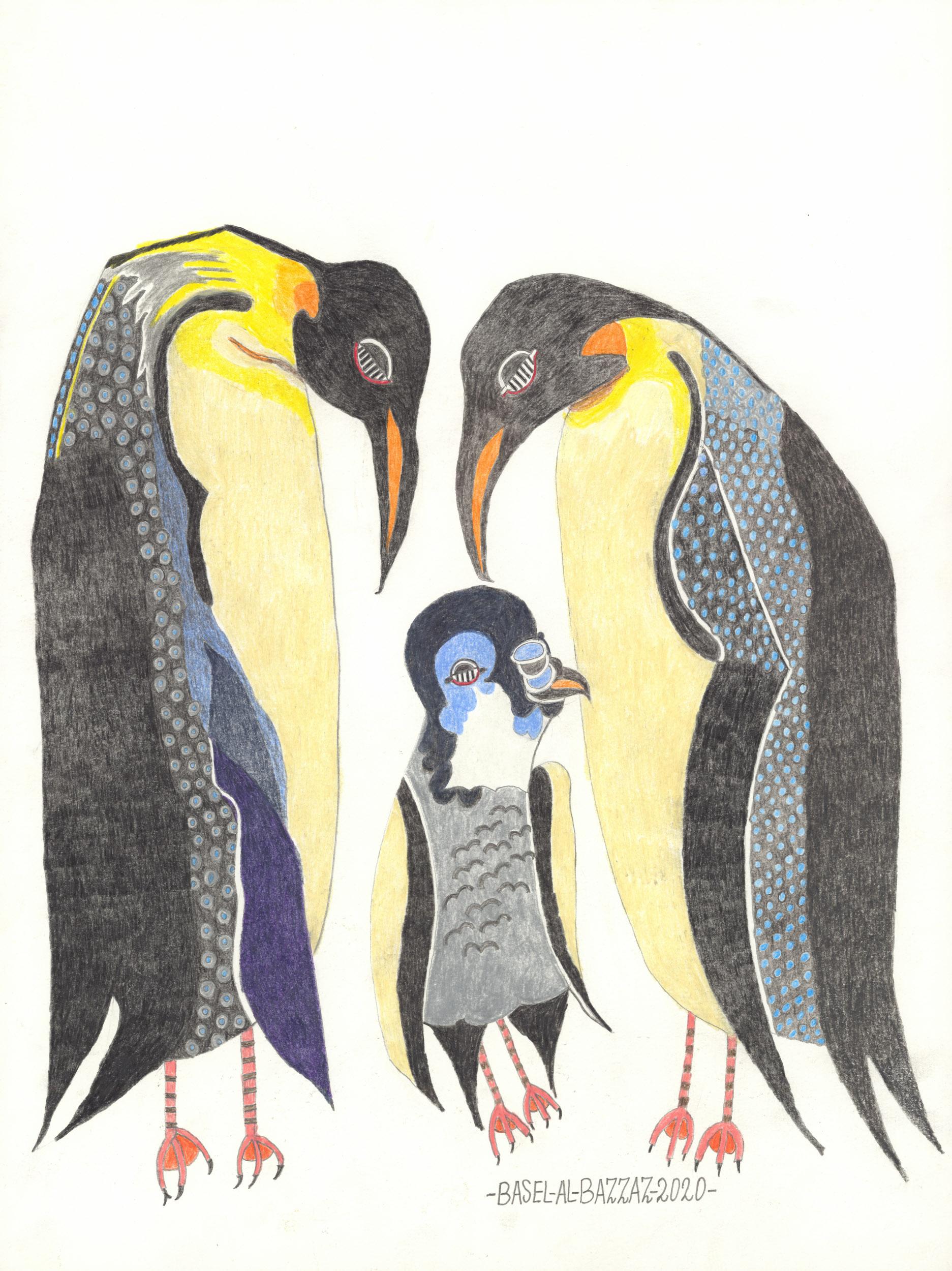 al-bazzaz basel - Pinguin Familie / Penguin family