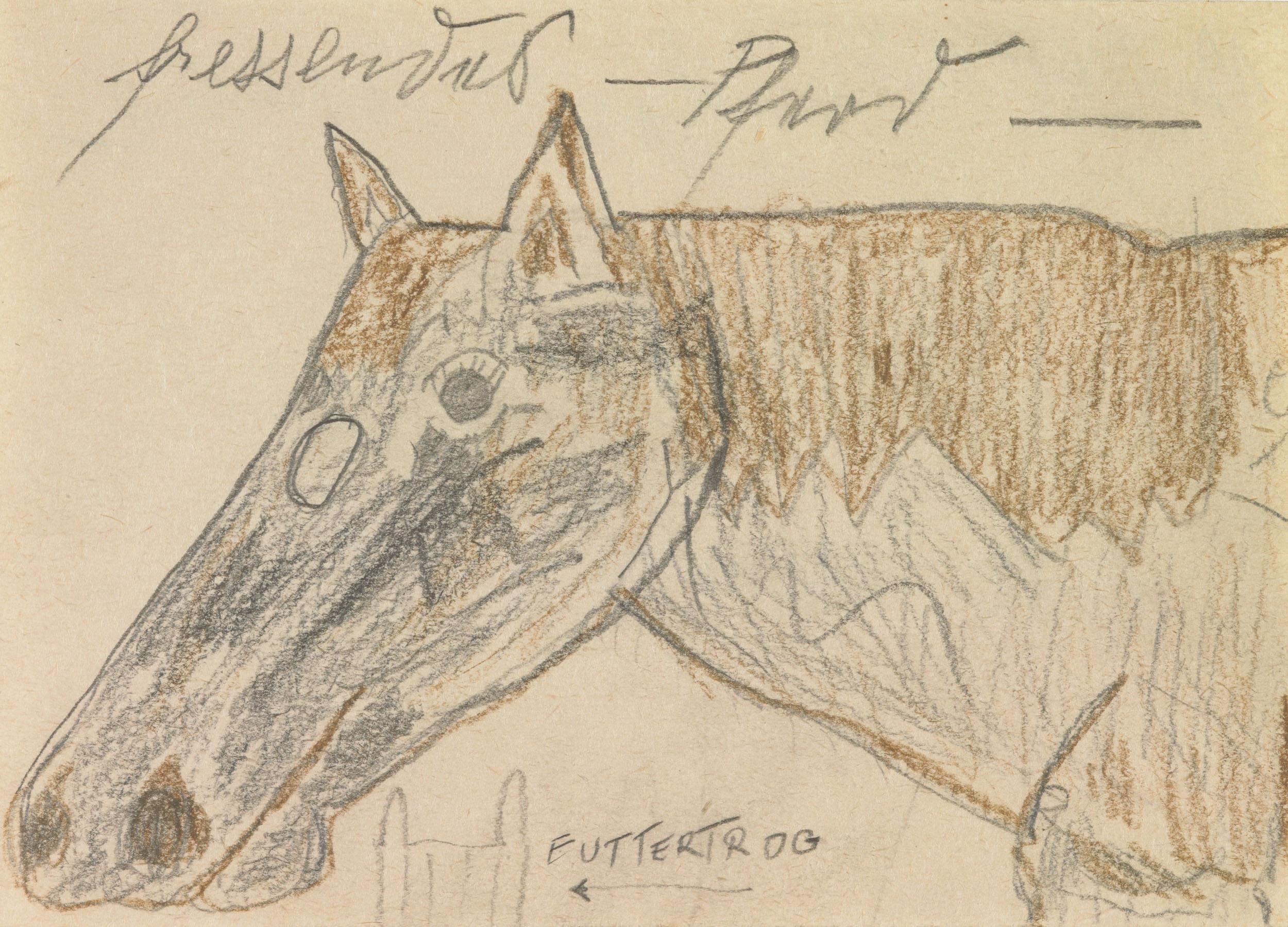herbeck ernst - Fressendes Pferd / Munching horse