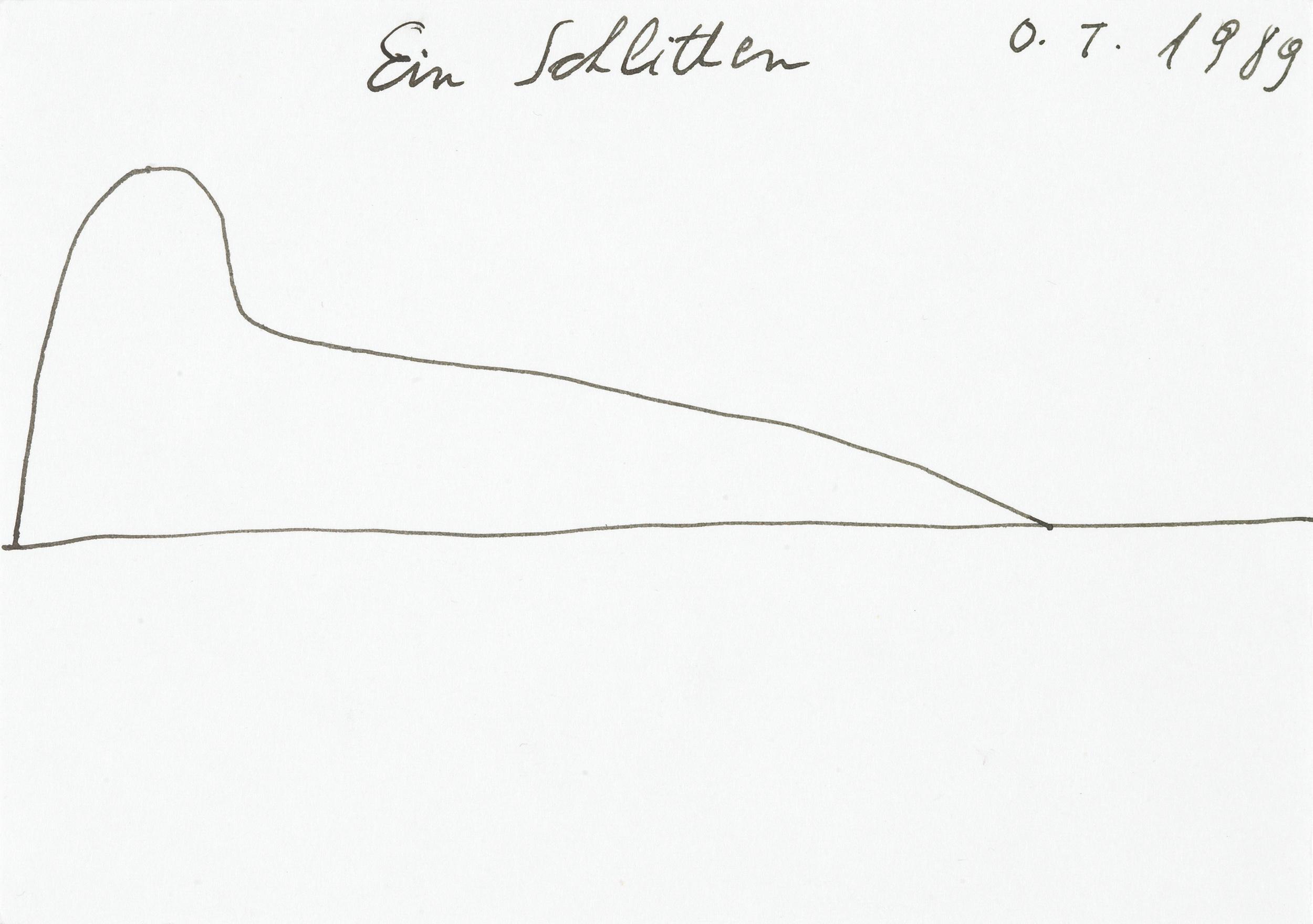 tschirtner oswald - Ein Schlitten / A sledge