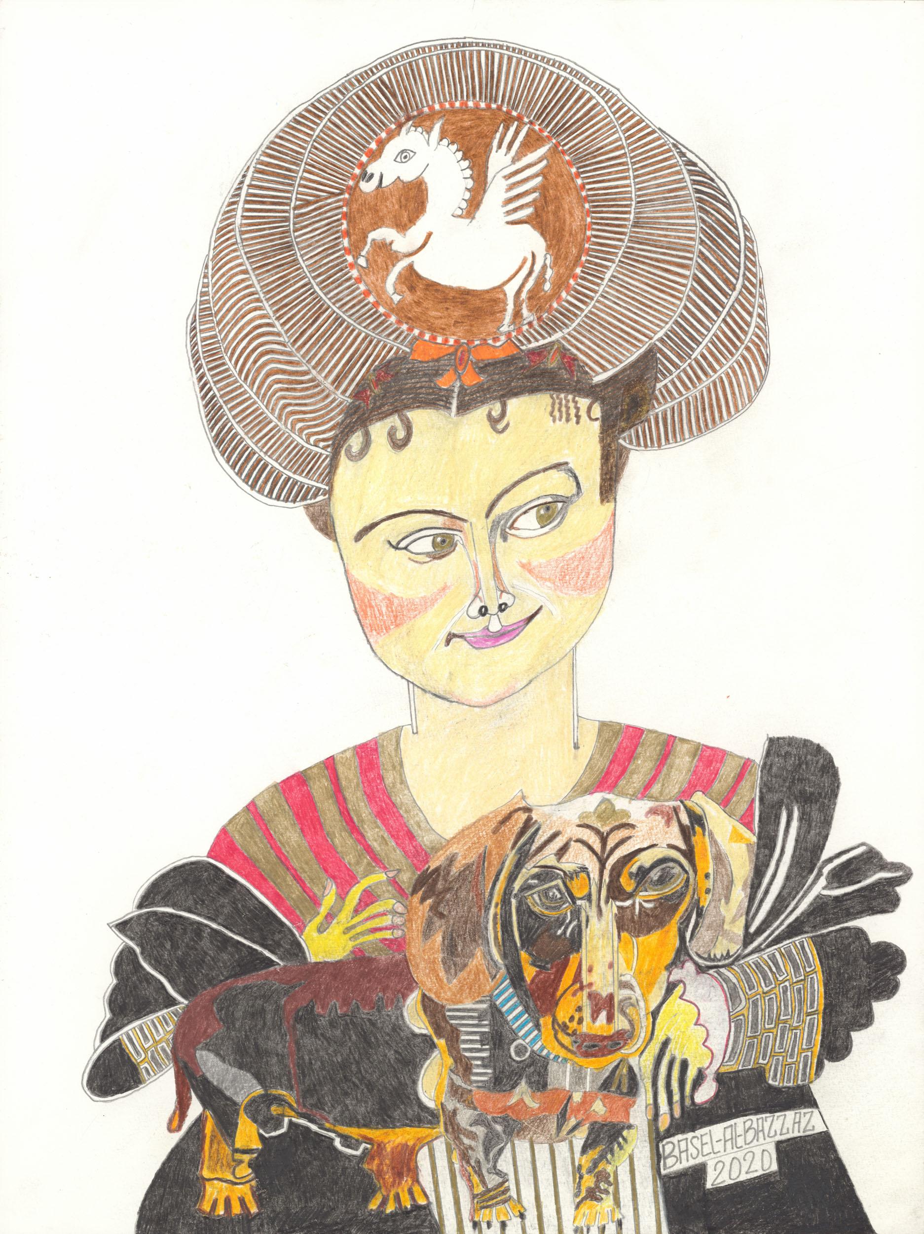 al-bazzaz basel - Prinzessin mit Dackel / Princess with dachshund