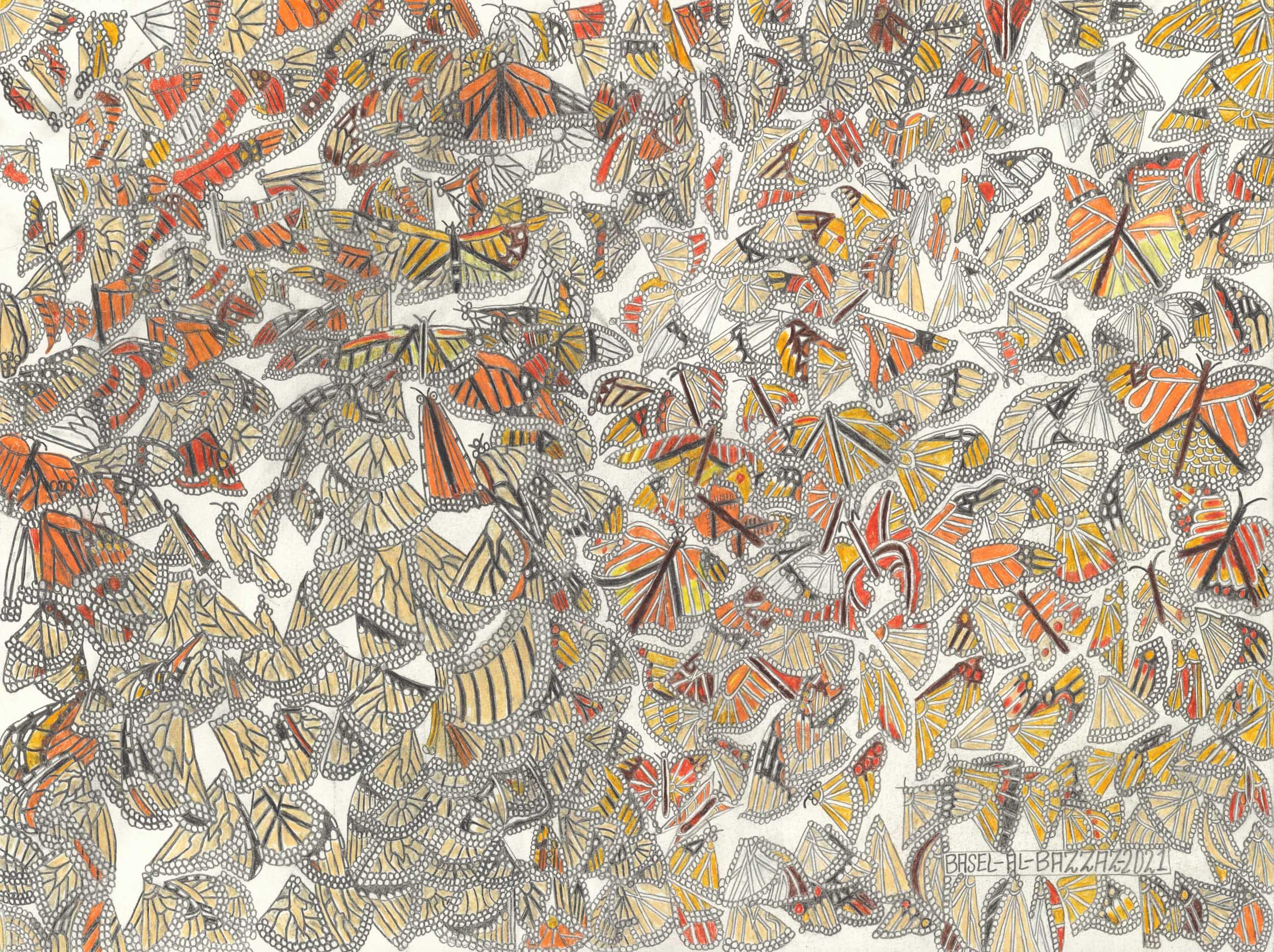 al-bazzaz basel - viele schmetterlinge/many butterflies