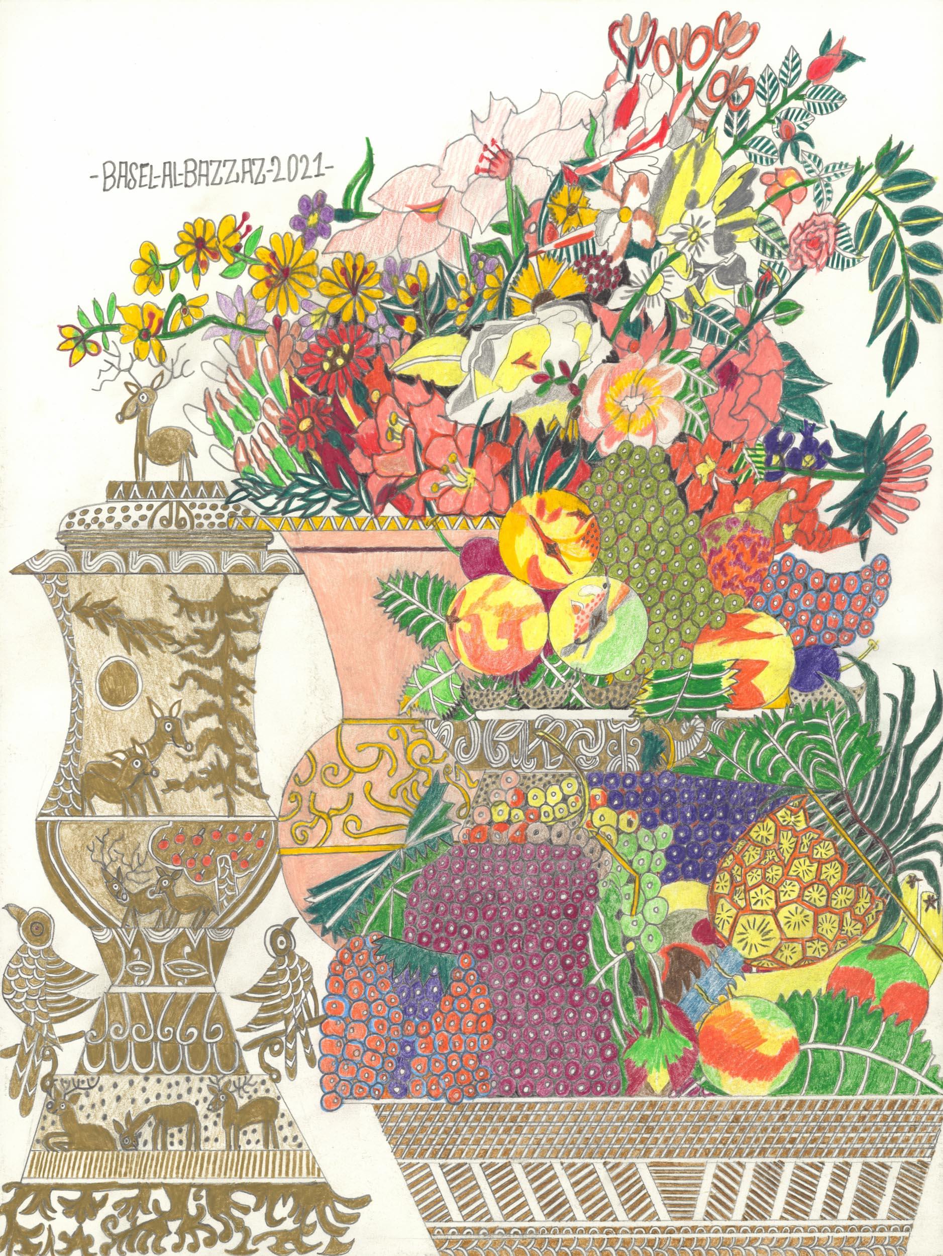 al-bazzaz basel - blumen und früchte/flowers and fruits