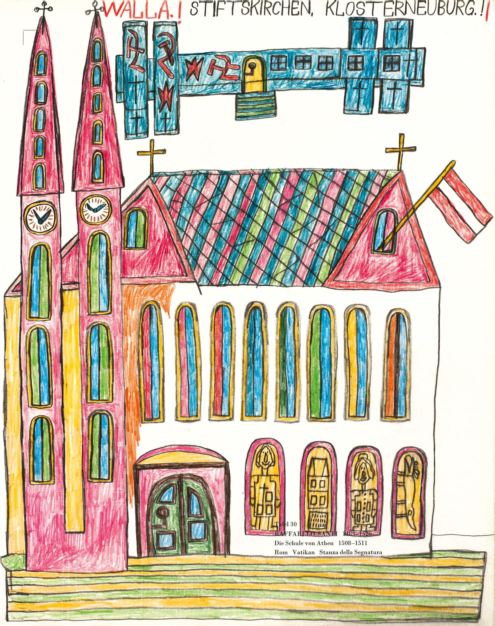 walla august - STIFTSKIRCHEN, KLOSTERNEUBURG.! / ABBEY CHURCHES, KLOSTERNEUBURG.!