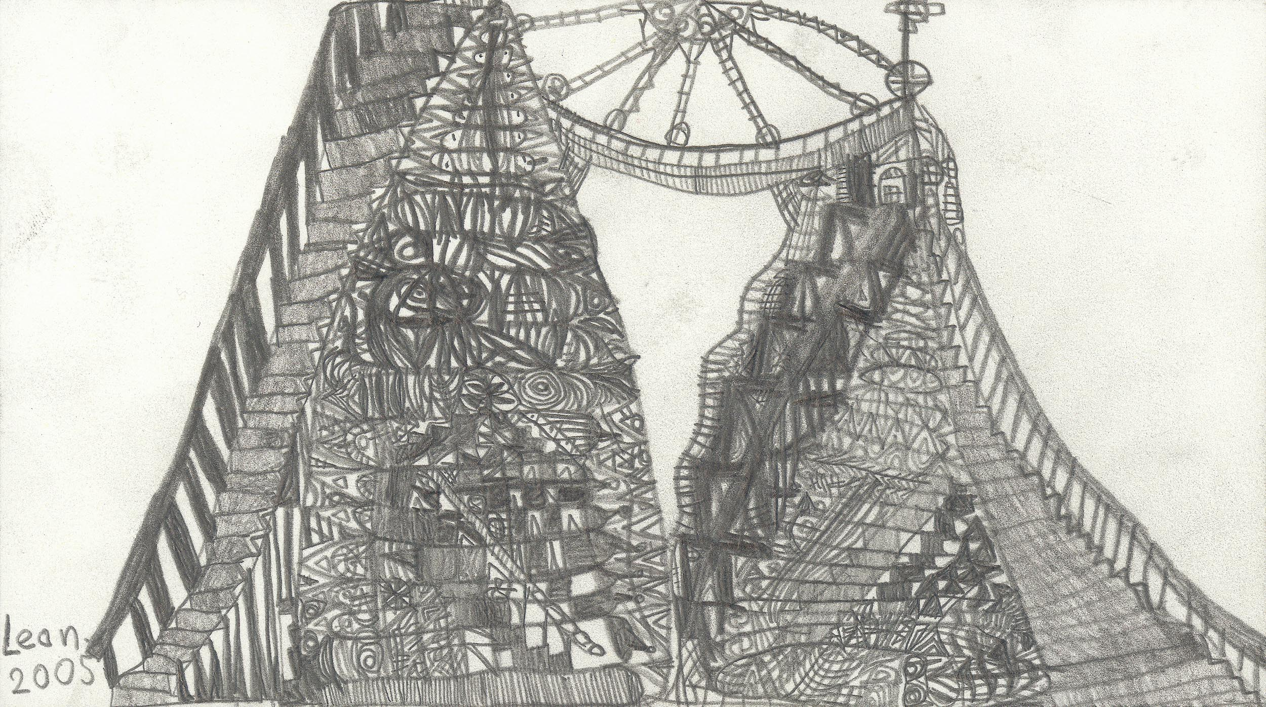 fink leonhard - Eine doppelte Pyramide in Amerika / A double pyramid in America