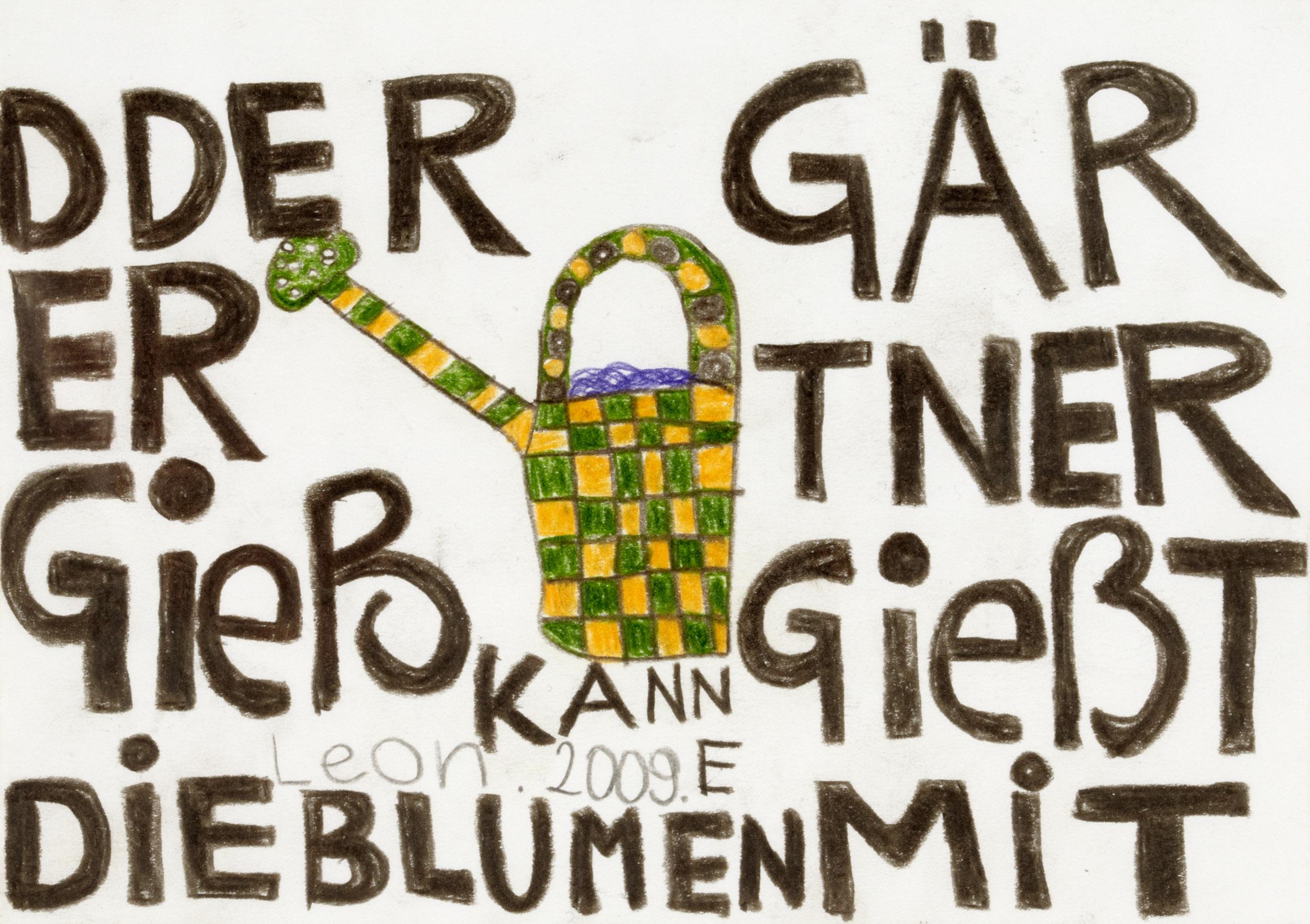 fink leonhard - Die Gießkanne / The watering can