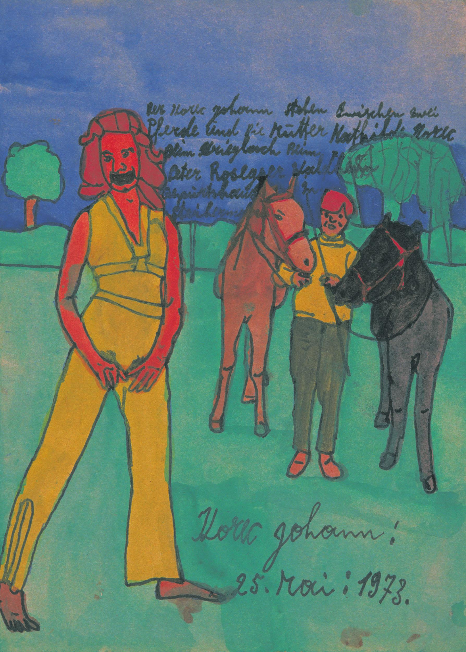 korec johann - Zwischen zwei Pferden / Between two horses