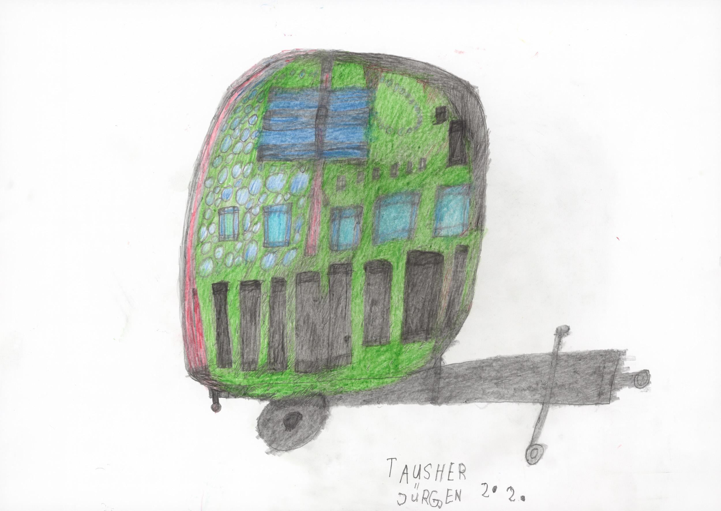 tauscher jürgen - Ein Wohnwagen/ A caravan