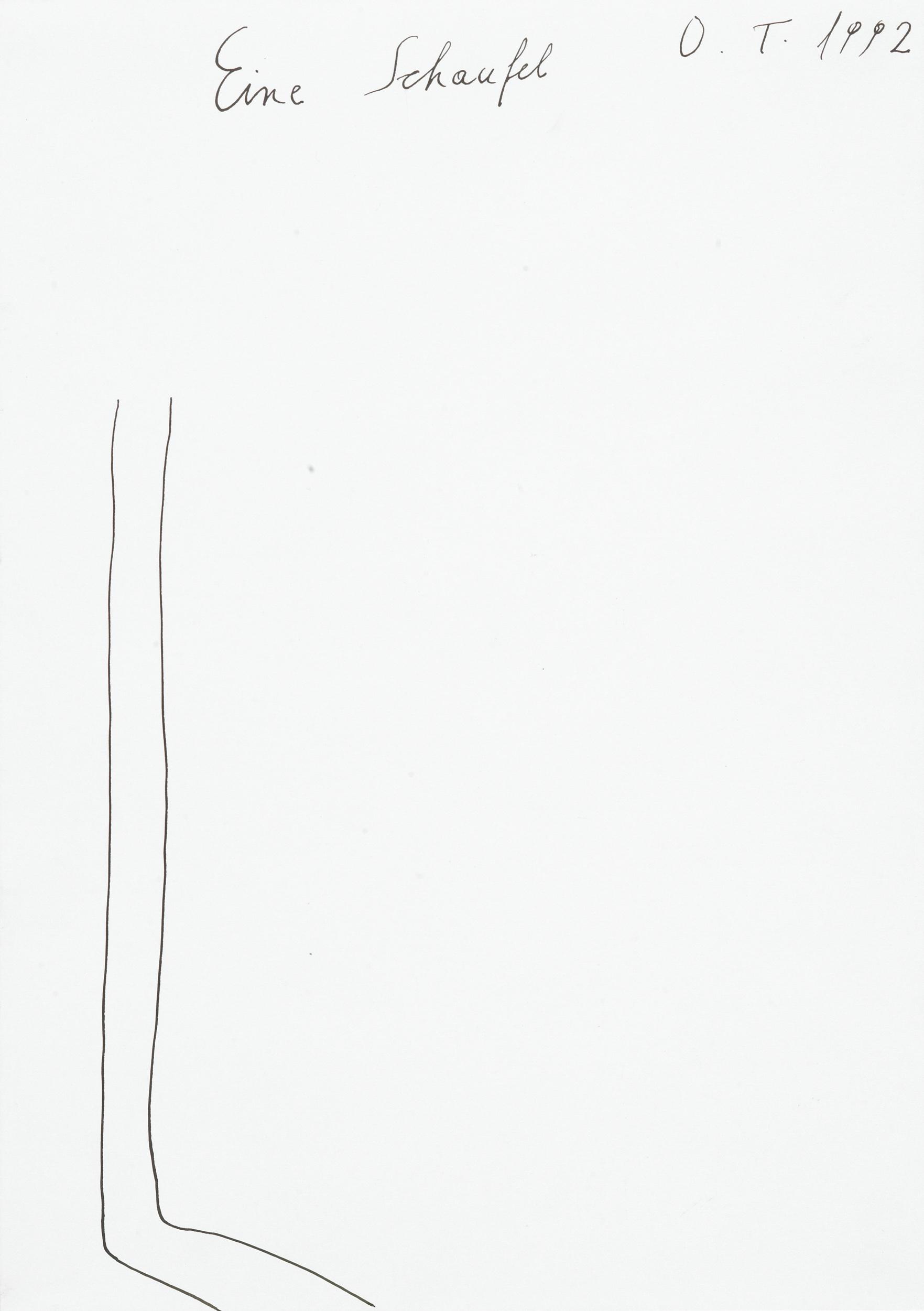 tschirtner oswald - Eine Schaufel / A shovel